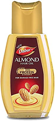 Dabur Almond Hair Oil - with Almond, Vitamin E and Soya Protein - 300 ml