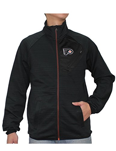 NHL mens Philadelphia Flyers Athletic zip-up calda giacca, Uomo, Black Black