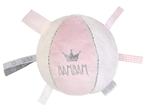 BamBam Baby's Soft Pink Heart Chime Ball