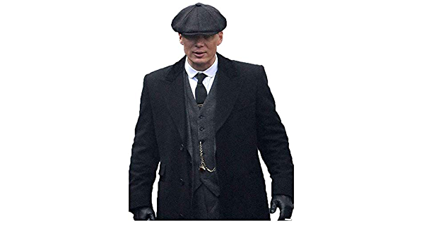 Men/'s patraque oeillères Thomas Shelby laine long Trench Coat