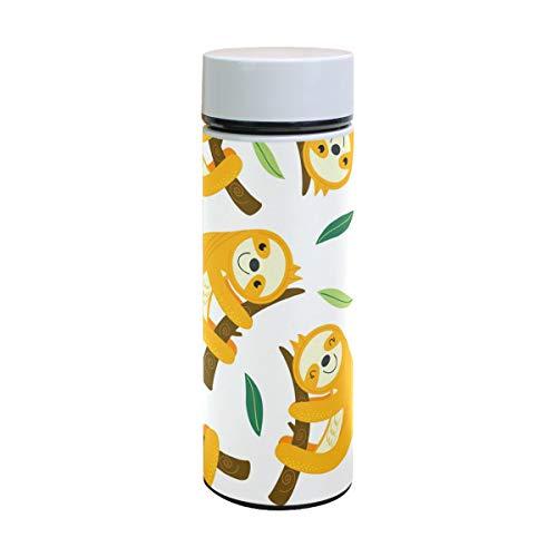 Ahomy Lustige Faultier doppelwandig Vakuum Isolierbecher Reise-Kaffeetasse, 18/8 Edelstahl Trinkflasche, Sport Wasserflasche, 350 ml