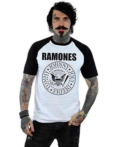 Ramones Hombre Presidential Seal Camiseta del Béisbol Large...