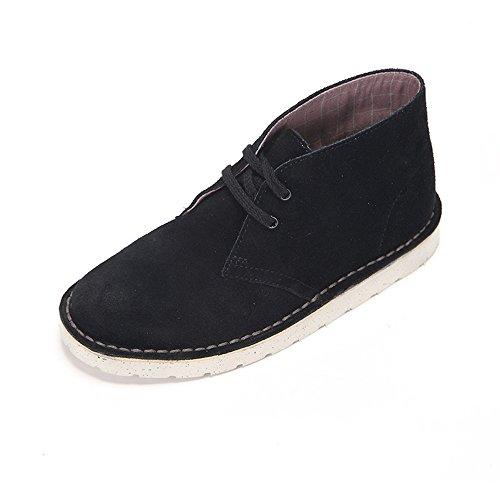 clarks-original-womens-desert-black-leather-boots-38-eu