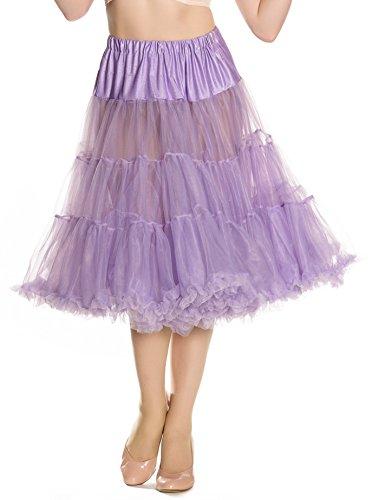 Hell Bunny Petticoat SWING LONG ivory Lavendelfarben