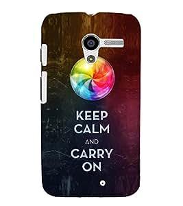 EPICCASE Carry on like a boss Mobile Back Case Cover For Moto X (Designer Case)