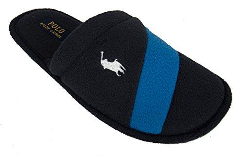 Polo Ralph Lauren Rugby Stripe Scuff Hommes Pantoufles Bleu 991676 Marine