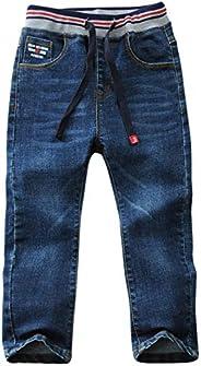 LAPLBEKE Jeans Bambino Denim Pantaloni Ragazzi Jean Bambini Primavera e Autunno Elastic Denim Pants