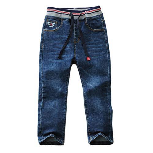 LAPLBEKE Niños Vaqueros Pantalones Casual Cintura