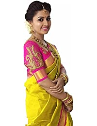 Sarees (for Women Party Wear Offer Sarees New Collection Today Low Price Sarees In YELLOW Coloured BHAGALPURI...