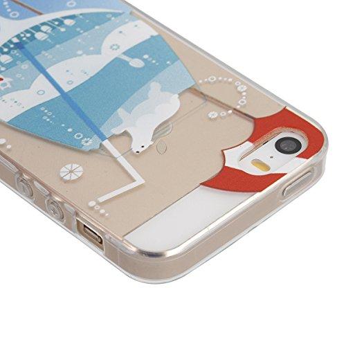 Apple iphone 6s plus Transparent Silikon Case,iPhone 6 plus hülle,Ekakashop Ultra dünn Slim Durchsichtig Transparente Muster Crystal Gel Silikon TPU Motiv Bumper Cas Schutzhülle Etui Tasche Cover Schu Seal Trinken