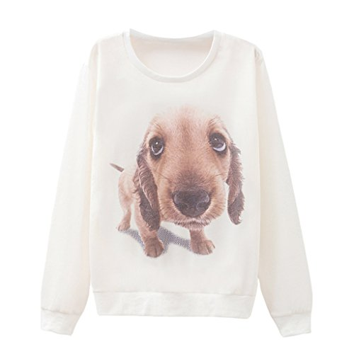 Dame Lebensecht Großen Kopf Drucken Hund Sweatshirt Des Menschen Bester Freund Hoodie (Freund Hoody)
