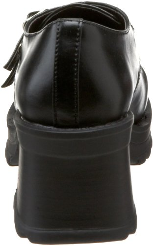 Demonia Trump-101 Tru101/B/Pu, Chaussures à Talon Femme Blk Vegan Leather