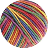 "Lana Grossa Merino superfein ""Cool Wool"" 703 light rainbow 50g"