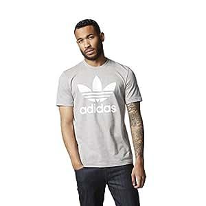 adidas Originals Mens Mens Trefoil T-Shirt in Grey - XS