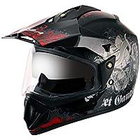 Off Road D/V Gangster Black Red Helmet-M
