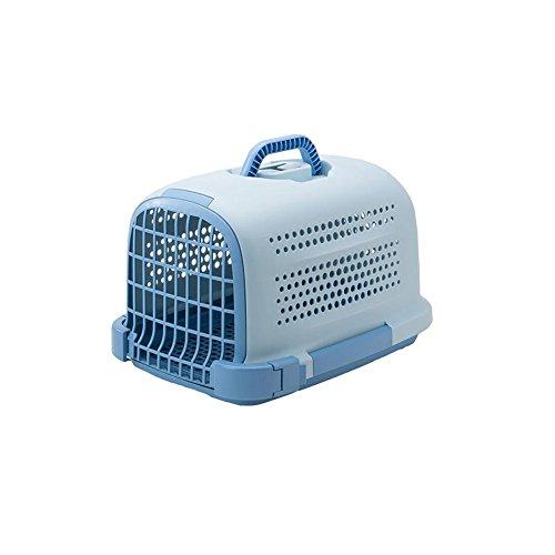 Dall Tragetaschen—— FS-802 Poröses Atmungsaktives Design Katzen und Hunde Haustier-Paket Haustier Träger Reisetaschen Großer Raum Rutschfeste Unterseite (Farbe : Blue)