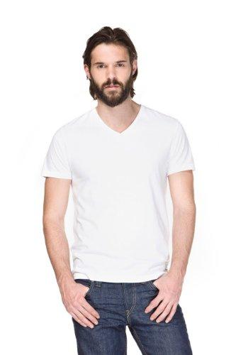 Levi's® Herren V-Neck Shirt/ T-Shirt 82983 2er Pack weiß (0004)