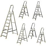 Leiter Aluleiter Stehleiter Haushaltsleiter Klappleiter Aluminium (verschiedene Größen) 8 Stufen