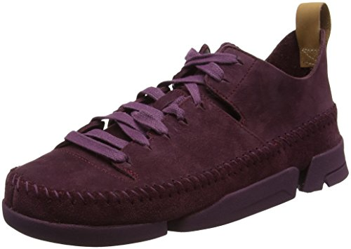 Clarks Originals Damen Trigenic Flex. Sneaker, Violett (Purple Nubuck), 37.5 EU (Wallabee-schuhe Frauen)
