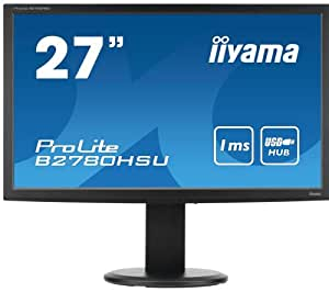 "iiyama Prolite B2780HSU-B2 Ecran PC LED 27"" (67 cm) 1920 x 1080 2 ms VGA/DVI/HDMI"