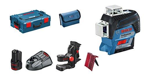 Preisvergleich Produktbild Bosch Professional Linienlaser GLL 3-80 C (mit App Funktion, 1x 2,0 Ah Akku, Ladegerät, Schutztasche, 12 Volt, Arbeitsbereich mit Empfänger: 120 Meter)
