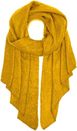 PIECES Damen Schal PCPYRON Long Scarf NOOS, Gelb Nugget Gold, One Size