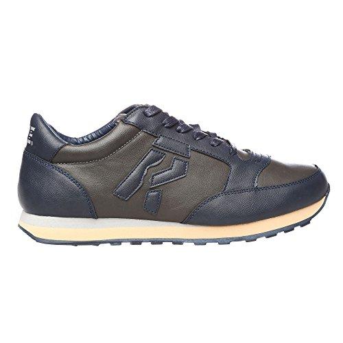 RIFLE Sneakers da uomo, scarpa bassa stringata - Mod. 162-M-318-604 Blu - Grigio