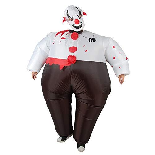 OOFAY Aufblasbares Sumo Clown Kostüm, Lustige Clown Requisiten, Aufblasbare Kleidung Für Erwachsene, Für Urlaubspartys, - Flecken Clown Kostüm