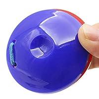 Gazechimp 2pcs Castagnettes à Doigt Plastique Jouet Musical Cadeau Enfant -Rouge et Bleu
