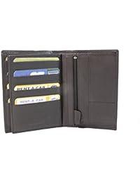 129f12ffbd862c Frédéric Johns - Große Leder Brieftasche - Extra 24 Kartenfächer -  Portemonnaies - Geldbeutel - Echt Leder…
