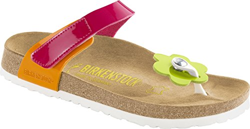 Birkenstock  Tofino, Tongs pour fille Flowers Pink Patent Mix
