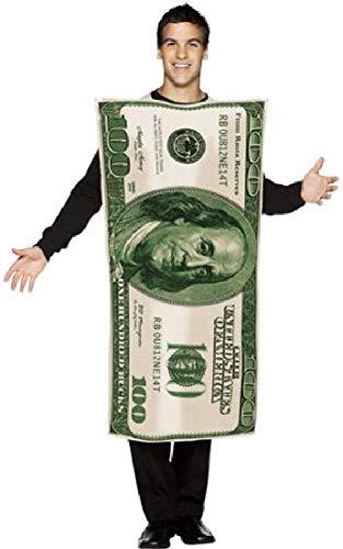 Fancy Me Kostüm für Herren und Damen, amerikanischer USA-100 Dollar-Schein, Junggesellenabschied, lustiges Kostüm, Kostüm, Outfit