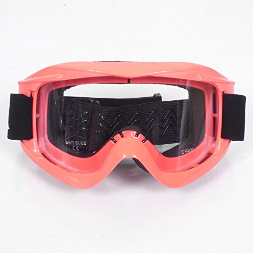 Occhiali maschera Rosso/Rosa Torx Moto Cross Enduro Schermo Anti Graffio/appannamento nove