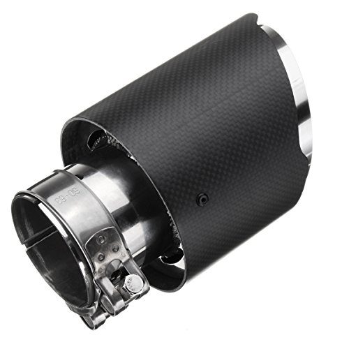 Cikuso Real Carbon Fiber Auto Suv Exhaust Pipe End Tips For Car 63Mm-89Mm Black Matte