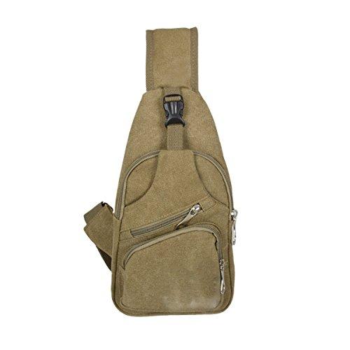 BULAGE Taschen Männer Leinwand Brusttasche Mode Trends Lässig Schulter Im Freien Rucksack Große Kapazität Reise Glanz Reiten Khaki