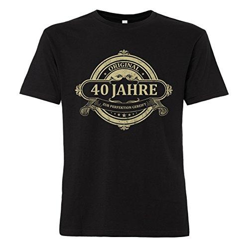 ShirtWorld - Original 40 Jahre - T-Shirt Schwarz