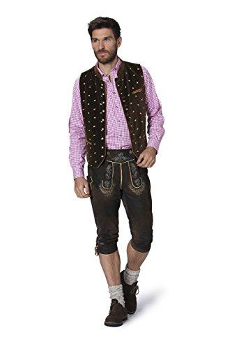 Stockerpoint - Herren Trachten Weste in verschiedenen Farbtönen, Calzado, Größe:46, Farbe:Braun - 2