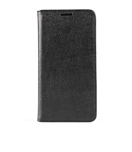 mosh® Lenovo Vibe P1m Hülle Schwarz, Mobilefashion, Ledertasche PU Leder, Tasche Schutzhülle, Case Cover mit Standfunktion, Magnetischen Flip-Design
