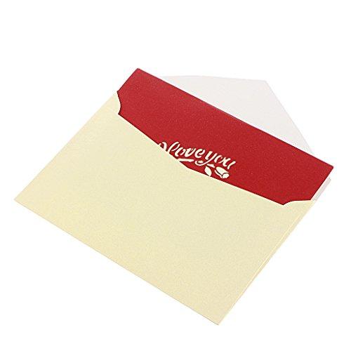 Landum cuore 3d biglietto di auguri pop up paper cut cartolina compleanno regalo per san valentino, festa