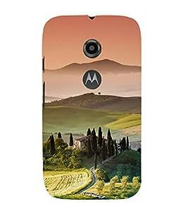 printtech Nature View Scenery Back Case Cover for Motorola Moto E2 / Motorola Moto E (2nd Gen)