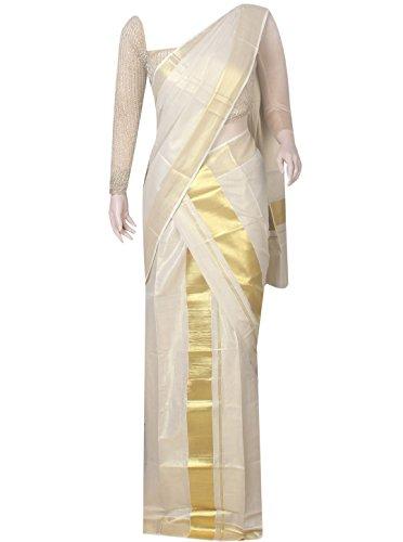 ARS Cotton Tissue Kasavu Saree 6.25 meter