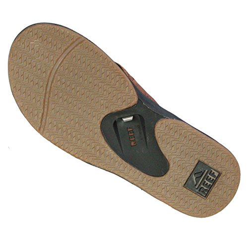Reef Leather Fanning, Flip-flop homme Brown (Brown Tweed)