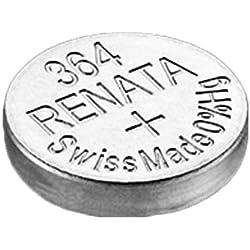 1 x Batterie Montre Renata poignet - Fabriqué en Suisse - Sans Piles oxyde d'argent 0% Mercure Renata Pile bouton 1,55 V piles longue durée