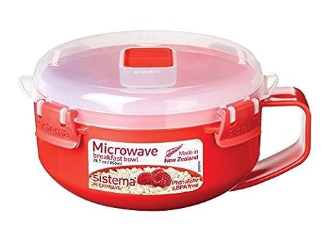 Sistema Microwave Breakfast Bowl - 850 ml, Red/Clear