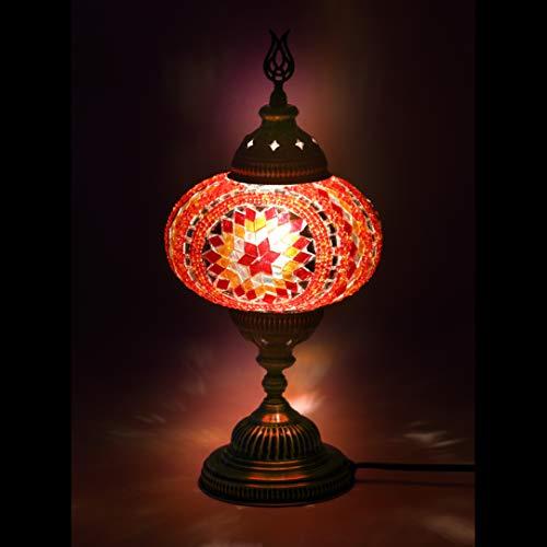 Gold-mosaik-tisch-lampe (Mosaik-Lampe - handgefertigte türkische Mosaik-Lampe, 11,4 cm, Mosaik-Laterne, Bronze, Wandlampe für Raumdekoration (Eltern) Tiffany Large (7