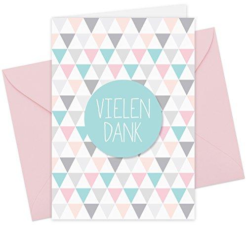 20 Karten & 20 Umschläge: Premium-Klappkarten Dankeskarten