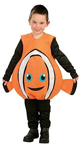 Guirca - Disfraz de pez, para niños de 5-6 años, color naranja (82743)