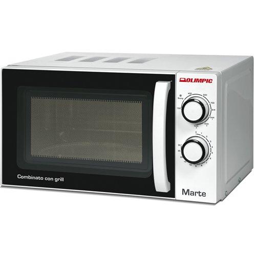 Olimpic 52603 Microonde Combinato con Grill, 20 litri, 1200 watt, Bianco/Nero