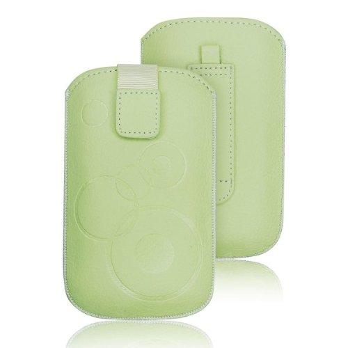 Pull Up Handytasche mit Muster für NOKIA 302 Asha, N8, N97 Mini, 300, 500, 206, 515, Tasche für Handy, Smartphone, Hülle, Schutzhülle, Universell, Grün, Minze Mini N97 Handy