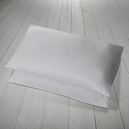Par de fundas de almohada blancas Hachette, 100% algodón egipcio 400hilos
